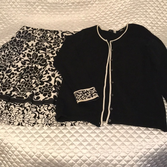 Saks fifth avenue sport Other - Saks fifth avenue skirt and sweater set
